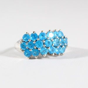Jewelry - Sterling Silver Blue Quartz Cocktail Ring 7